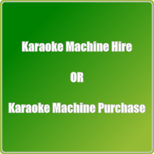 Karaoke machine hire or purchase image.
