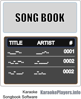 Karaoke songbook software and karaoke songbook creation software