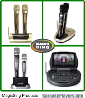 MagicSing Karaoke - Different MagicSing models.
